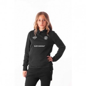Black Bananas kids hoodie sweater trui FC hoody fleece in de kleur zwart