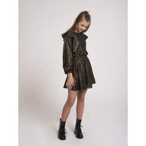 Nik en Nik girls tasha text skirt party in de kleur goud/zwart