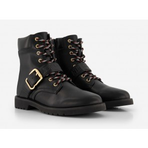 Nik en Nik schoenen laarsjes met gesp Zailey boots in de kleur zwart