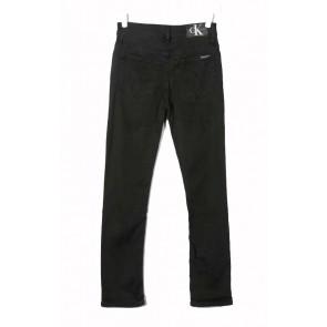 Calvin klein boys kids slim chalk black stretch jeans in de kleur zwart