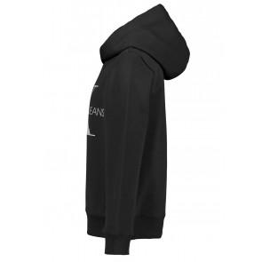 Calvin Klein hoodie sweater trui met monogram print in de kleur zwart