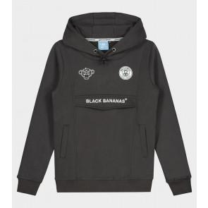 Black Bananas kids junior JR Anorak hoody sweater in de kleur antraciet grijs