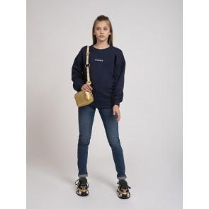 Nik en Nik kids girls Dory sweater trui in de kleur donkerblauw