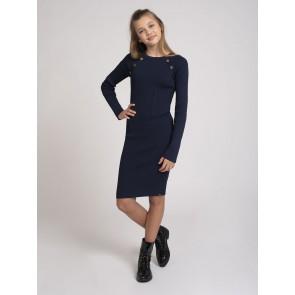 Nik en Nik kids girls hesper jolie dress in de kleur donkerblauw