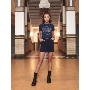 Nik en Nik girls stars t-shirt in de kleur donkerblauw