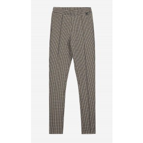 Nik en Nik geruite pantalon broek Trish pants in de kleur beige/bruin