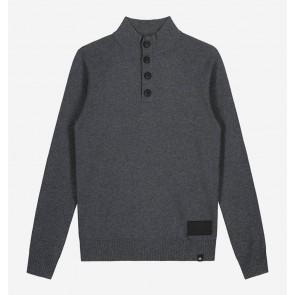 Nik en Nik kids boys gebreide trui Heffery pullover in de kleur antraciet grijs
