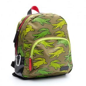 Zebra trends boys rugzak wild croco in de kleur groen/green