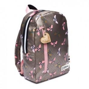 Zebra trends rugzak M Bees bijen in de kleur pink/roze