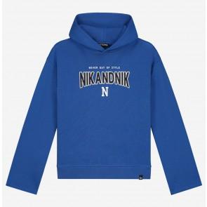 Nik en Nik kids girls sweater trui in de kleur kobalt blauw