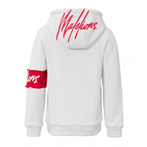 Malelions junior kids hooded sweater trui in de kleur wit
