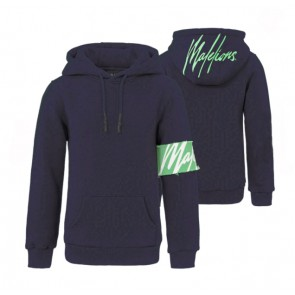Malelions junior kids hooded sweater trui in de kleur donkerblauw/mint