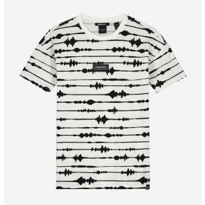 Nik en Nik boys Ayden t-shirt in de kleur zwart/wit