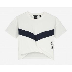 Nik en Nik girls Ada sport t-shirt cropped in de kleur off white