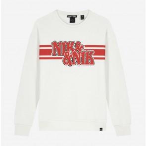 Nik en Nik girls sweater trui Alexi sweater in de kleur off white