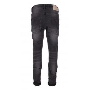 Indian blue jeans black Jay tapared fit in de kleur black denim