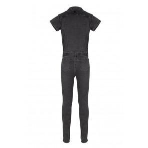 Indian blue jeans denim jumpsuit in de kleur grey denim