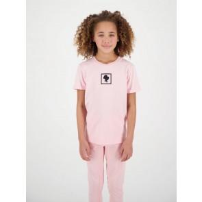 Reinders kids headlogo square short sleeve shirt in de kleur baby pink