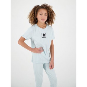 Reinders kids headlogo square short sleeve shirt in de kleur baby blue
