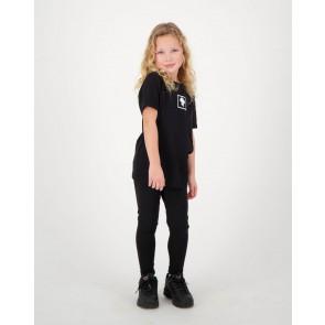 Reinders kids headlogo square short sleeve shirt in de kleur black zwart