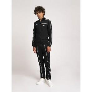 Nik en Nik boys Alain track jacket vest in de kleur zwart