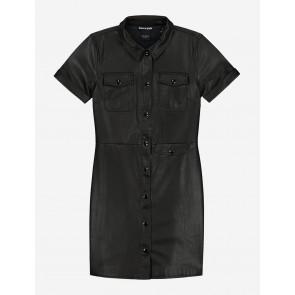 Nik en Nik girls Taylor dress jurk van vegan leather in de kleur zwart