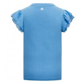 Retour jeans girls Hanna top met roezel mouw in de kleur lichtblauw
