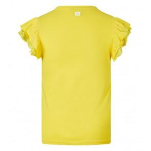Retour jeans girls Hanna top met roezel mouw in de kleur geel