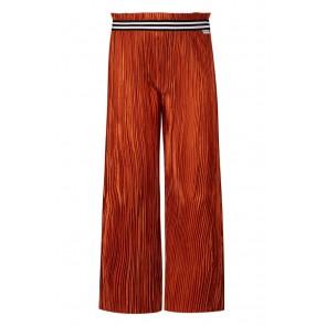 Retour jeans girls Cynthia wijde plisee broek in de kleur brique roestbruin