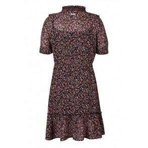 Retour jeans girls jurk Jasmijn met bloemenprint in de kleur zwart/multicolor