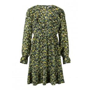 Retour jeans kids girls jurk Josi met bloemenprint in de kleur geel/zwart