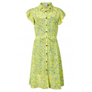 Retour jeans kids girls Ivory jurk met bloemenprint in de kleur geel