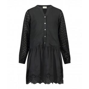 AI&KO girls jurk Cylian broderie jurk in de kleur zwart