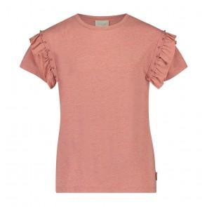 AI&KO girls t-shirt Sally met studs in de kleur zachtroze