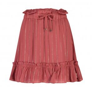 AI&KO girls Kayle stripe rok in de kleur brique/goud