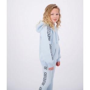 Reinders girls wordning hoodie sweater trui met logo print in de kleur lichtblauw baby blue