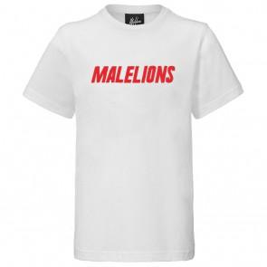 Malelions junior kids Nium t-shirt in de kleur wit/rood
