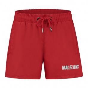 Malelions junior kids zwembroek swimshort Nium in de kleur rood/wit