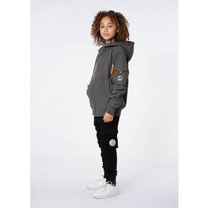Black Bananas kids junior JR soft shell jacket jas in de kleur grijs