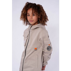 Black Bananas kids junior Cargo jacket jas in de kleur sand zand