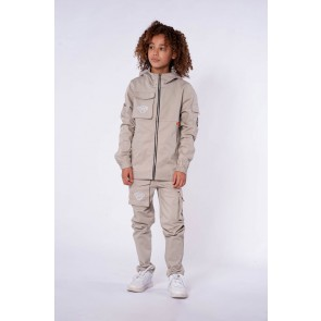 Black Bananas kids junior cargo jogger in de kleur sand zand