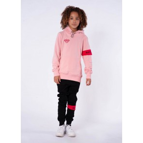 Black Bananas kids junior sweater trui JR Captain hoody in de kleur roze