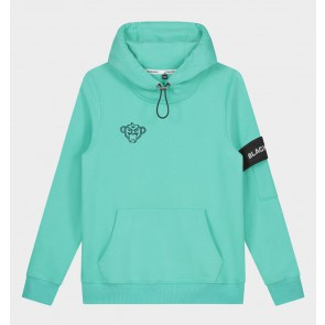 Black Bananas kids junior sweater trui JR Captain hoody in de kleur aqua blauw