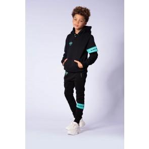 Black Bananas kids junior broek JR Captain Jogger broek in de kleur zwart/aqua