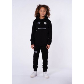 Black Bananas kids junior broek pocket jogger in de kleur zwart