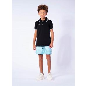 Black Bananas junior kids Wavy polo shirt in de kleur black zwart