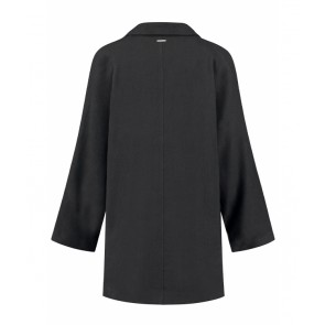Circle of trust girls Odile lange linnen blazer in de kleur zwart
