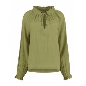 Circle of trust girls blouse met ruches in de kleur cedar groen