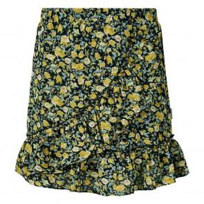 Retour jeans girls gebloemde rok Penelope in de kleur zwart/geel