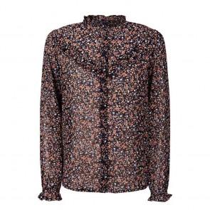 Retour jeans girls blouse Ilja met bloemenprint in de kleur zwart